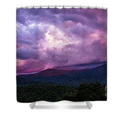 Mountain Sunset In The East Shower Curtain