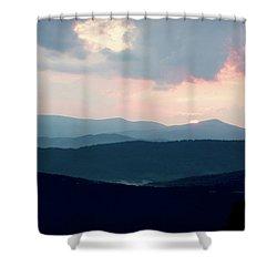 Shower Curtain featuring the photograph Blue Ridge Mountain Sunset by Meta Gatschenberger
