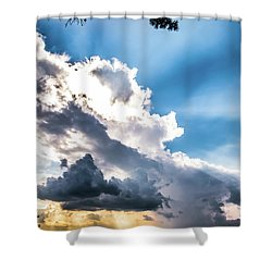 Shower Curtain featuring the photograph Mountain Sunset Sightings by Shelby Young