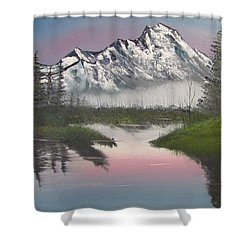 Mountain Sunset Shower Curtain by Thomas Janos