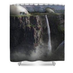 Mountain Top Shower Curtain