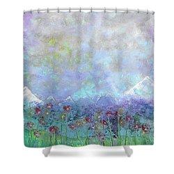 Mountain Valley Dew Shower Curtain