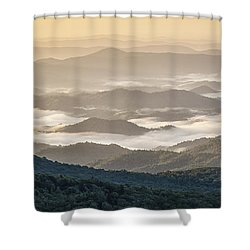 Mountain Valley Fog - Blue Ridge Parkway Shower Curtain