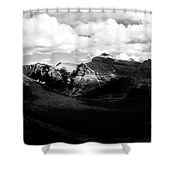 Mountain Valley Landscape Shower Curtain