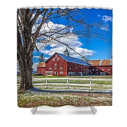 Mountain View Barn Shower Curtain