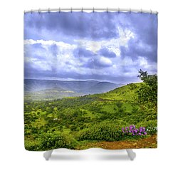 Shower Curtain featuring the photograph Mountain View by Charuhas Images