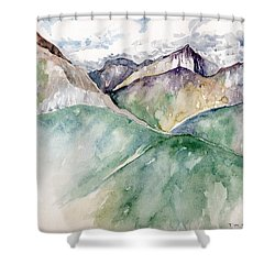 Mountain View Colorado Shower Curtain by Catherine Twomey