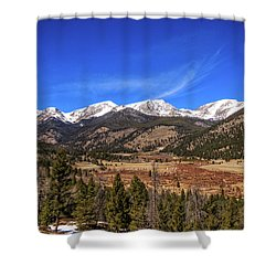 Mountain View From Fall River Road In Rocky Mountain National Pa Shower Curtain
