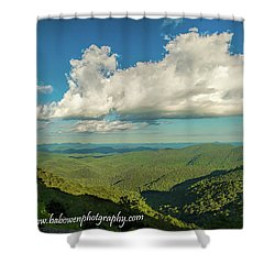 Mountain View From Preachers Rock Shower Curtain