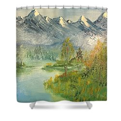Mountain View Glen Shower Curtain