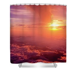Mountain View Shower Curtain by Tatsuya Atarashi
