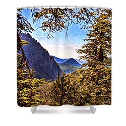 Mountain Views Shower Curtain