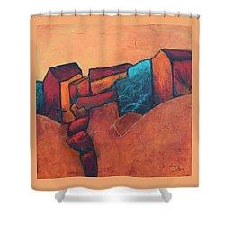 Mountain Village Shower Curtain