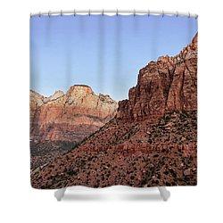 Mountain Vista At Zion Shower Curtain