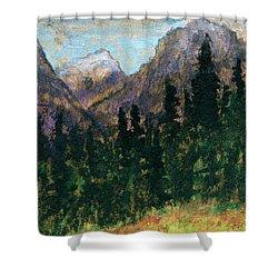 Mountain Vista Shower Curtain by R Kyllo