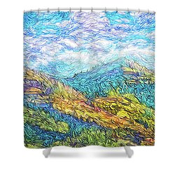 Mountain Waves - Boulder Colorado Vista Shower Curtain