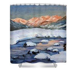 Mountain Winter Landscape 1 Shower Curtain by Irek Szelag
