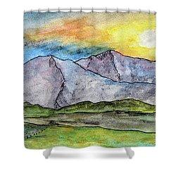 Mountainous Landscape Shower Curtain by R Kyllo