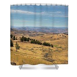 Mountainous Terrain In Central Oregon Shower Curtain