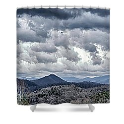Shower Curtain featuring the photograph Mountains 1 by Walt Foegelle