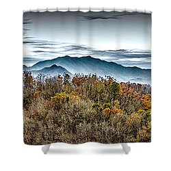 Shower Curtain featuring the photograph Mountains 2 by Walt Foegelle