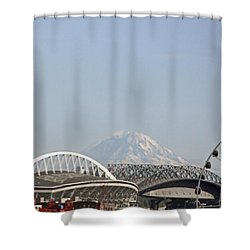 Mountains And City Shower Curtain