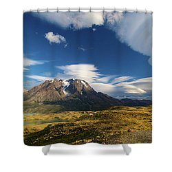 Mountains And Clouds In Patagonia Shower Curtain