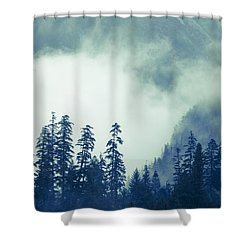 Mountains And Fog Shower Curtain by Michele Cornelius