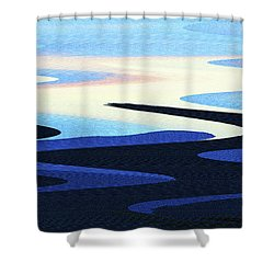 Mountains And Sky Abstract Shower Curtain by Tom Janca