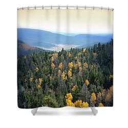 Shower Curtain featuring the photograph Mountains And Valley by Jill Battaglia