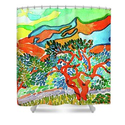 Mountains At Collioure Shower Curtain