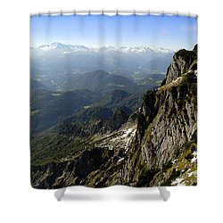 On Top Of The Untersberg Shower Curtain