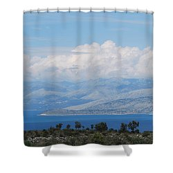 Mountains Far Away  3 Shower Curtain
