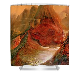 Mountains Fire Shower Curtain