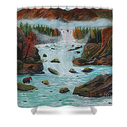 Mountains High Shower Curtain