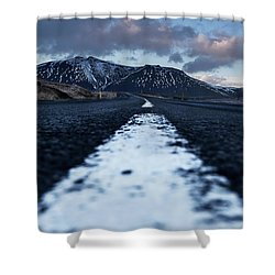 Mountains In Iceland Shower Curtain