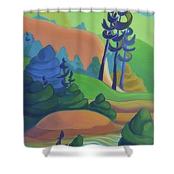 Hills In Spring Shower Curtain