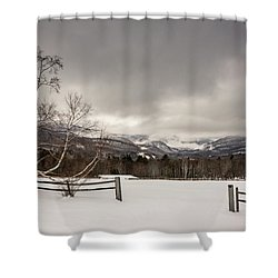 Mountains In Winter Shower Curtain