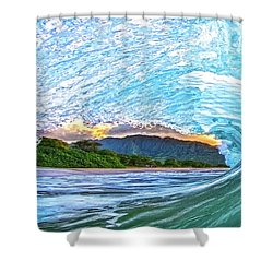 Mountains To The Sea Shower Curtain by James Roemmling