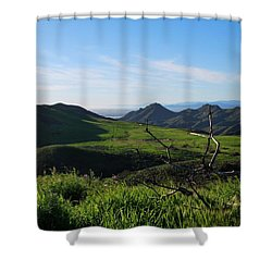 Shower Curtain featuring the photograph Mountains To Valley View by Matt Harang