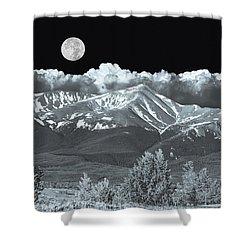 Mountains, When High Enough And Tough Enough, Measure Men.  Shower Curtain