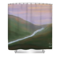 Mountainside Serenity Shower Curtain