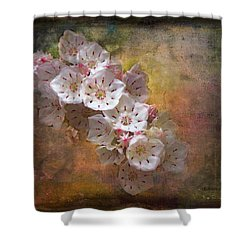 Mountain Laurel Shower Curtain by Bellesouth Studio