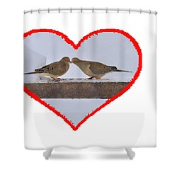 Mourning Doves Kissing Shower Curtain