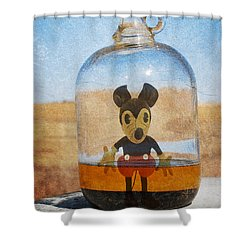 Mouse In A Bottle  Shower Curtain