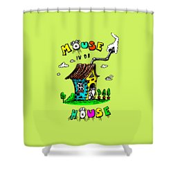 Shower Curtain featuring the drawing Mouse In Da House by Kim Gauge