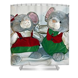 Mouse Love Shower Curtain by Allan  Hughes