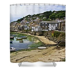 Mousehole Harbour, Cornwall Shower Curtain