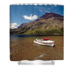Moutain Lake Shower Curtain by Sebastian Musial