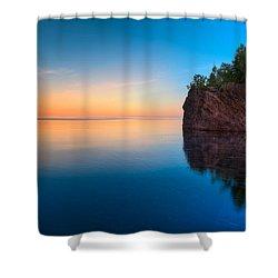 Mouth Of The Baptism River Minnesota Shower Curtain by Steve Gadomski